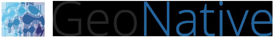 Logo GeoNative Long couleur pour fond clair